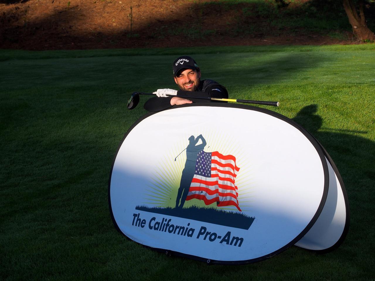 Thomas Linard, membre du PGA European Tour au départ du California Pro-Am