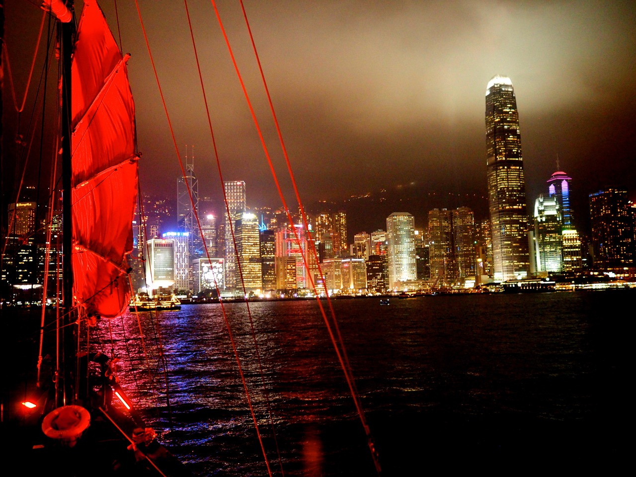 Hong-Kong by night