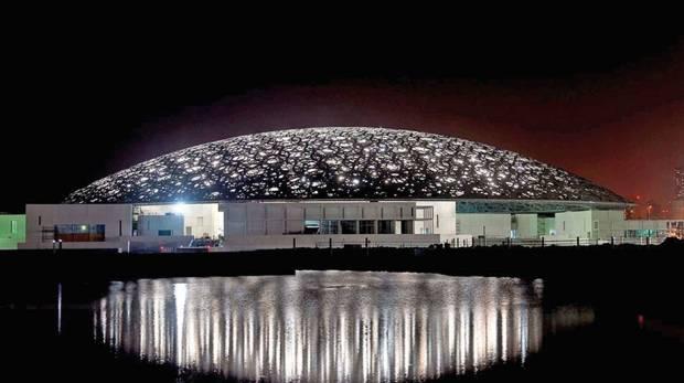 Le Louvre d'Abu Dhabi, lors de l'étape 1
