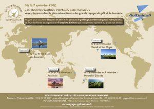 La brochure du Tour du Monde Golfissimes !!!