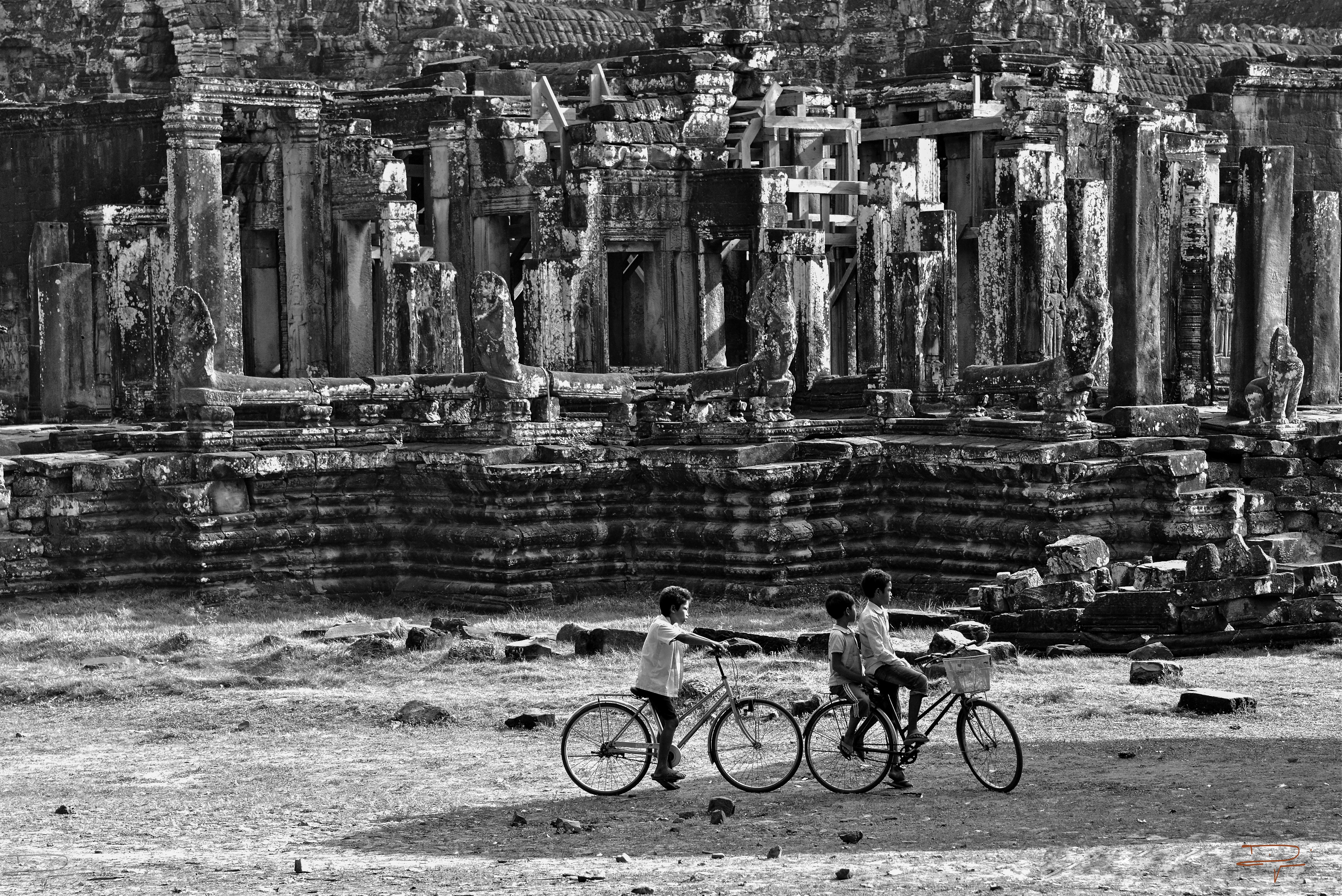 Dans les temples d'Angkor