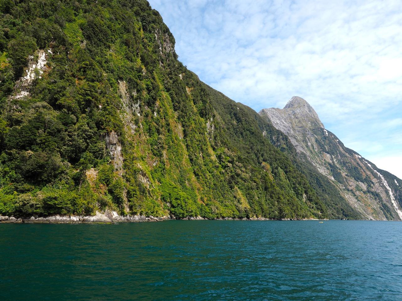 Dans le fjord de Milford Sound