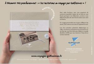"""La brochure """"LES INCITATIONS AU VOYAGE PAR GOLFISSIMES"""""""